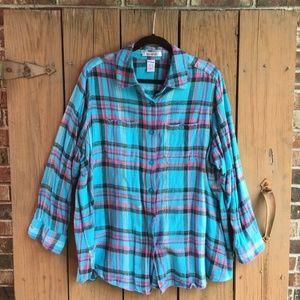 Roaman's | Plaid Button Down Shirt